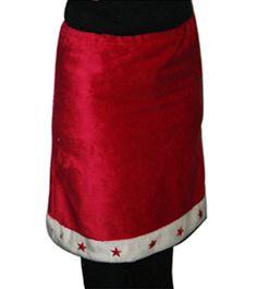 Verkleedkleding Rode kerst rok met witte rand in de Verkleedkleding winkel. Goedkope verkleedkleding bestellen - Verkleedkleding Rode kerst rok met witte rand