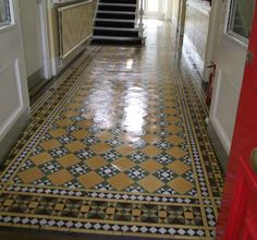 victorian floor tiles, love the pattern, but maybe need a different colour to yellow?