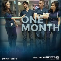 Our heart is beating so fast! The #NightShift returns in ONE MONTH.
