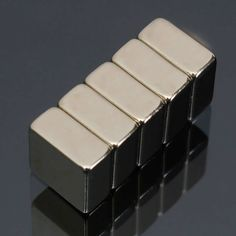 Description: 5pcs N52 10mm x 10mm x 5mm Block Magnets Rare Earth Neodymium Magnets Specification:  Shape : Square Block  Material : NdFeB magnetic material  Product Size : 10mm x 10mm x 5mm  Grade : N52  Quantity : 5    Usage:  1. Acoustic field: the speaker, receiver,...