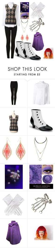 """Black Butler Zodiac: Gemini"" by kiara-fleming ❤ liked on Polyvore featuring Topshop, Dsquared2, windsor., Black, Bernard Delettrez and Plakinger"