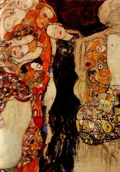 The Three Ages of Women: The Bride (unfinished) by Gustav Klimt, 1917/18. Probably the best austrian artist ever.