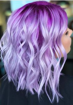 Beautiful lavender and purple hair color ideas for long bob haircuts and hairstyles are really awesome to sport in these days. This is one of the feminine and attractive hair color shades that you can consider to wear now. It has stunning purple highlights on it so that's the it always looks like more elegant & cute.