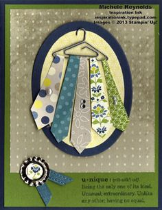 Handmade Father's Day card by Alayne Kerbert. Boy Cards, Cute Cards, Men's Cards, Birthday Cards For Men, Man Birthday, Fathers Day Cards, Masculine Cards, Creative Cards, Scrapbook Cards