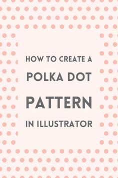 Learn how to make a simple polka dot pattern using Illustrator's pattern maker tool. You can use these pattern for your blog's graphics or original artwork.