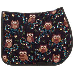 Life's a Hoot- Owl Saddle Pad - Novelty English Saddle Pads