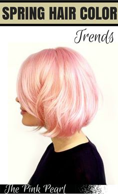 The Pink Pearl! The perfect pastel pink hair color for Spring. See more trends → http://bit.ly/springcolortrends #SpringHairColor #HairTrends2014 #SpringHair