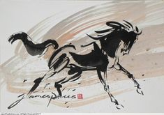chinese ink painting horse - Google Search