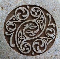Celtic wedding stone engraved by sjengraving, ETSY