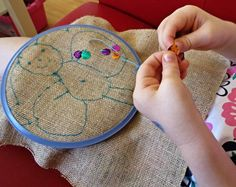 Projects for Kids: Starting Out With Embroidery My love to sew! Hand sewing project- beginning embroidery via Childhood love to sew! Hand sewing project- beginning embroidery via Childhood 101 Embroidery Designs, Hand Embroidery, Sewing Patterns Free, Free Sewing, Sewing Hacks, Sewing Crafts, Sewing Tips, Sewing Tutorials, Sewing Basics