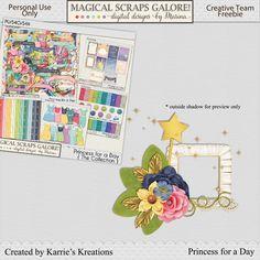 Magical Scraps Galore - Princess for a Day freebie