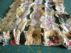how to make a snippet roll by carole brungar. thank you carole. very lovely.