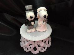 Snoopy and Belle Wedding Cake Topper - DIY- Custom Wedding Cake Topper- Basic…