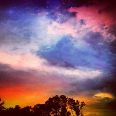 """Taken off of my apartment patio. Had a stormy sunset. Edited with #WoodCamera"" - Ryan LeFevre, #Mashpics #Weather"
