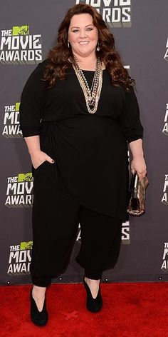 Melissa McCarthy - the AMAZING Melissa - she cheers me up no matter what she is doing.   I adore her!