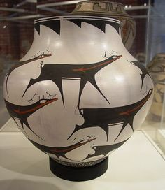 Large Jar with Deer 20th Century Zuni, by S. S. Peynetsa at the American Museum of Ceramic Art Pomona, California by saimo_mx70, via Flickr