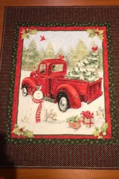We have amazing customers who show off their amazing skills using our fabric to create their Shop Mook Fabrics fabric store in Medicine Hat Alberta, Winnipeg Manitoba and Leola Pennsylvania for your new favorite fabrics for all your DIY creations! Christmas Decorations, Diy Projects, Wreaths, Quilts, Pennsylvania, Creative, Red, Medicine, Truck