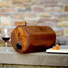 2 Wine Barrels - Wedding Reception - Gift Idea - Rustic - Wine Decanter-QTY. 2. $125.00, via Etsy.