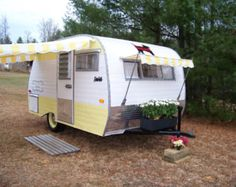 http://www.replacementtraveltrailerparts.com/traveltrailerawnings.php has some information on how to shop for the right awnings for a travel trailer.