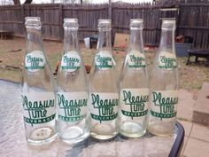 Ah, I'd love an Orange or Grape Pleasure Time Soda about now Old Glass Bottles, Soda Bottles, Albuquerque News, Sweet Memories, Water Bottle, Soft Drink, Aurora, Childhood, Mexico