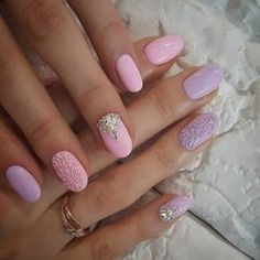 3d nails, Birthday nails, Dating nails, Embossed nails, Exquisite nails, Festive nails, Manicure by summer dress, Mauve nails