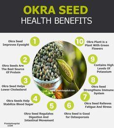 Mind Nutrition, Health And Nutrition, Herbs For Health, Good Health Tips, Okra Health Benefits, Okra Seeds, Easy Juice Recipes, High Antioxidant Foods, Okra