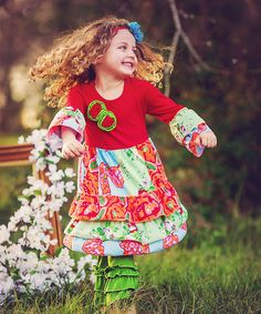 Look at this Wholesale Princess Red Flower Ruffle Top & Leggings - Infant, Toddler & Girls on today! Tops For Leggings, Ruffle Top, Infant Toddler, Toddler Girls, Red Flowers, Gingham, To My Daughter, Girl Outfits, That Look
