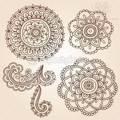 henna designs template | Flowers Henna Paisley Pattern Tattoo Designs