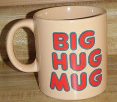 Vintage 80s Big Hug Mug FTD Florists Authentic HBO True Detective McConaughey #FTDFlorists