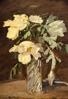 paul cesar helleu: still life with flowers, 1890