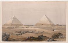Pyramids of Geezeh [Giza] David Roberts