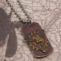 layered gear pendant from Jewelry Making Journal