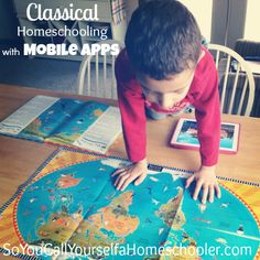 Classical Homeschooling with Mobile Apps: Helpful tips for using an iPad with the classical homeschooling method. SoYouCallYourselfaHomeschooler.com