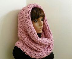 PDF Crochet Pattern for Chunky Tunnel Cowl/Hood. $5.50, via Etsy.
