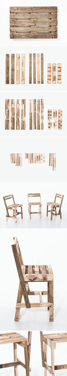 Chairs made from pallets
