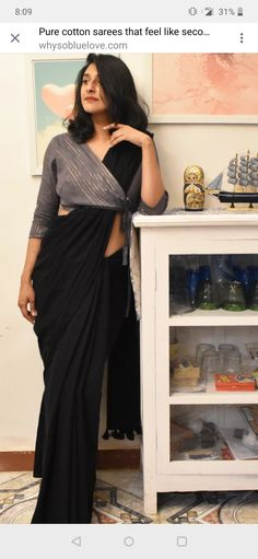 Groovy black colour stylish looking chanderi silk saree exclusive bridal lehenga designed by sashi vangapalli Designer Kurtis, Designer Dresses, Latest Designer Sarees, Fancy Blouse Designs, Designs For Dresses, Latest Saree Blouse Designs, Latest Design Of Blouse, Shagun Blouse Designs, Latest Blouse Patterns
