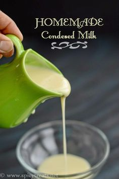 Spicy Treats: Homemade Condensed Milk Recipe | How To Make Sweetened Condensed Milk At Home | Homemade Condensed Milk(Without Milk Powder) | Instant Condensed Milk Recipe | Homemade Condensed Milk Recipe In 2 Ways