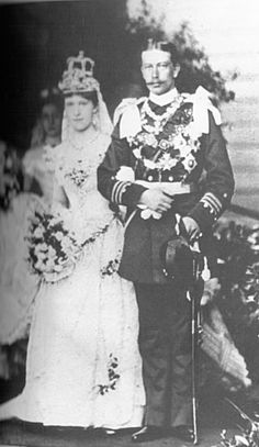PRINCESS IRENE OF HESSE & THE RHINE -  Grandaughter of Victoria, Queen of England. Worn on the 24th May 1888 on the occasion of her marriage to Prince Henry of Prussia, grandson of Victoria, Queen of England.
