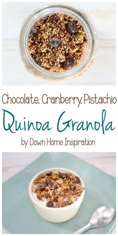 Chocolate, Cranberry, Pistachio, Quinoa Granola - Down Home Inspiration #LoveDoveFruits #CollectiveBias #ad