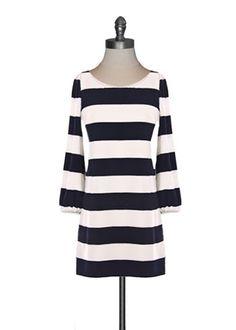 Cabana Stripe Shift Dress: all it needs is a few accessories !