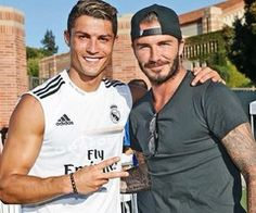 Two best footballers!! Cristiano Ronaldo and David Beckham!