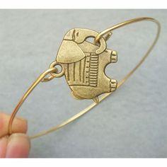 Elephant Brass Bangle Bracelet on Luulla