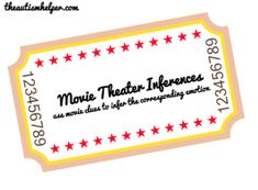 Movie Theatre Inferences - - Pinned by @PediaStaff – Please Visit  ht.ly/63sNt for all our pediatric therapy pins