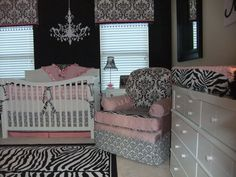 Wow! Extravagant baby girl nursery.