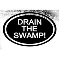 Trump Drain The Swamp Decal Sticker Car Truck for Ford Chevy Dodge Vw Window Bumper
