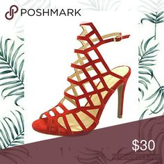 Red asymmetrical sandal heels Brand new never worn. Does not come with original box. A fiery hue and strappy accents make a bold statement when you step out in this sky-high style. Sandal Heels, Shoes Heels, Sandals, Giuseppe Zanotti Heels, High Fashion, Womens Fashion, Sky High, Hue, Diva