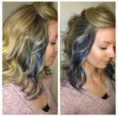 Beyond the zone hair dye color jamz, also used ion teal dye and mixed some of them together to create my streaks!