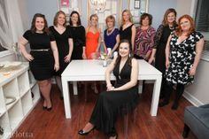 Introducing you to the Be More Inspired Wedding Studio team:  Bridget center, from left to right behind:  Courtney, Rebekah, Lauren, Susan, Randie, Corinne, Linda, Stacy and Catherine