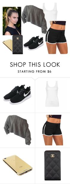 """""""Untitled #442"""" by anasofiasousavieira on Polyvore featuring NIKE, Ally Fashion, Goldgenie and Chanel"""