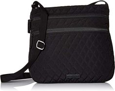 Vera Bradley Triple Zip Hipster Crossbody Shoulder Bag in Classic Black *** Details can be found by clicking on the image. (This is an affiliate link) Best Crossbody Bag Travel, Zip Wallet, Zip Around Wallet, Vera Bradley Tote, Crossbody Shoulder Bag, Shoulder Bags, Nylon Bag, Leather Handle, Wallets For Women